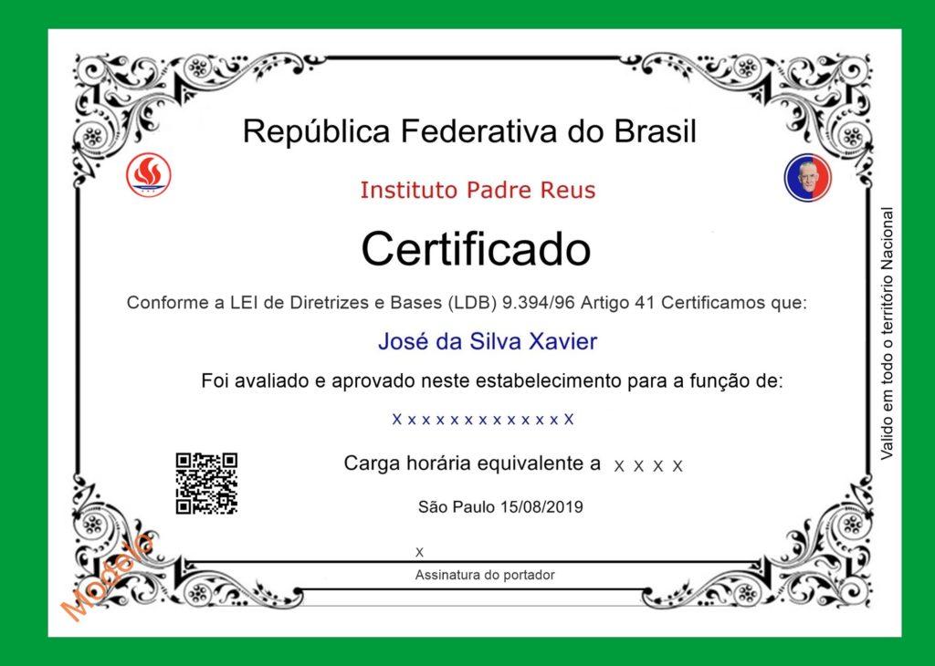 Certificado de Competência Profissional